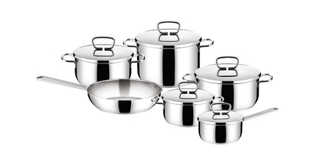 Набор нержавеющей посуды PRAKTICA 11 предметов