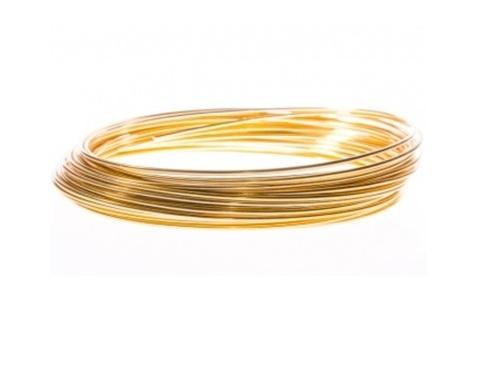 Проволока алюминиевая 2 мм 100 гр, золотой