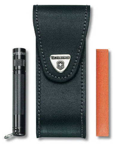 Чехол кожаный Victorinox, черный, для Services pocket tools 111 мм, Pocket Multi Tools lock-blade