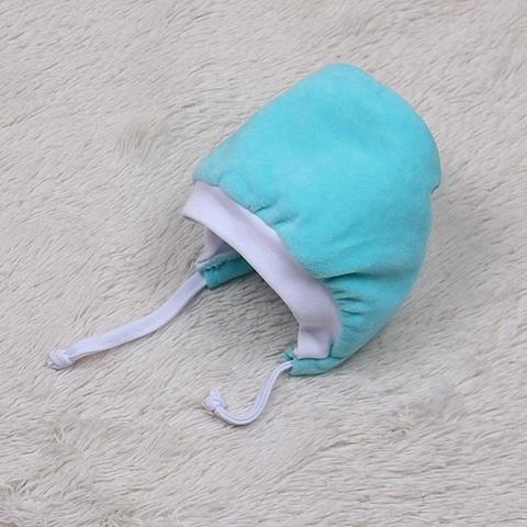 Теплая велюровая шапка Coоl (бирюза)