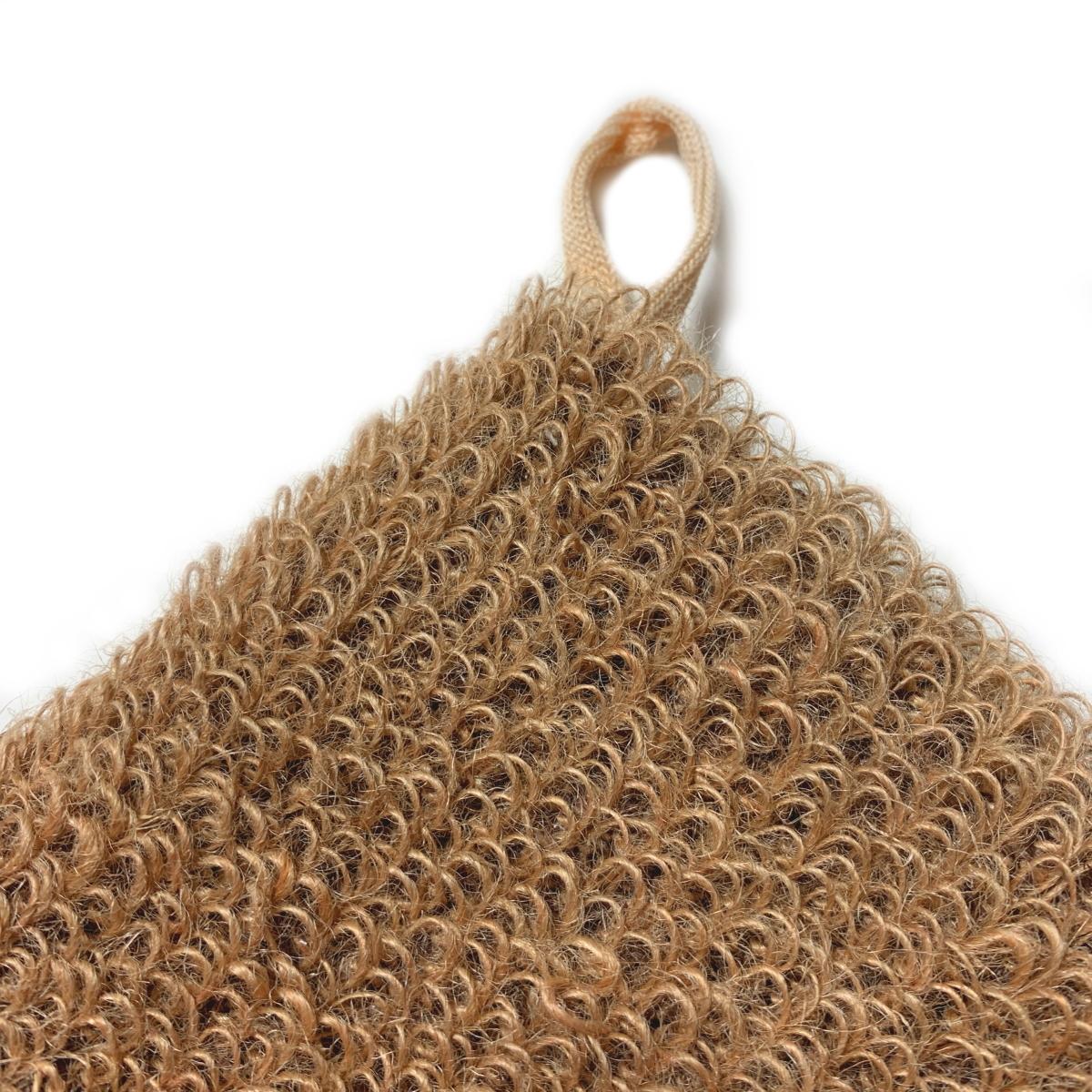 Мочалка-рукавица  массажная из натурального волокна (джут)