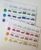 """Сортировочная таблица """"Виды транспорта по цвету"""". Без фигурок. Развивающие пособия на липучках Frenchoponcho (Френчопончо)"""