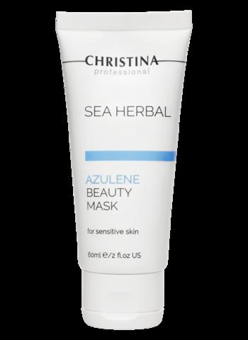 "Christina Маска красоты на основе морских трав для чувствительной кожи ""Азулен""  | Sea Herbal Beauty Mask Azulene for sensitive skin 60ml"