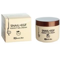 Крем для лица с экстрактом улитки SECRETSKIN SNAIL+EGF PERFECT GEL CREAM 50гр