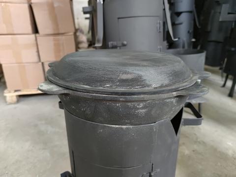 Чугунная крышка сковорода на казан 10л