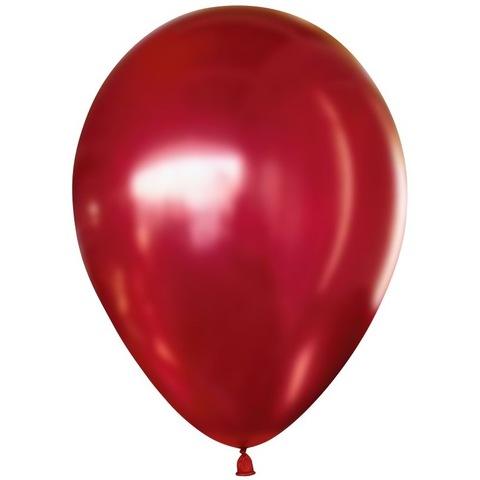 Шар хром Красный, 30 см