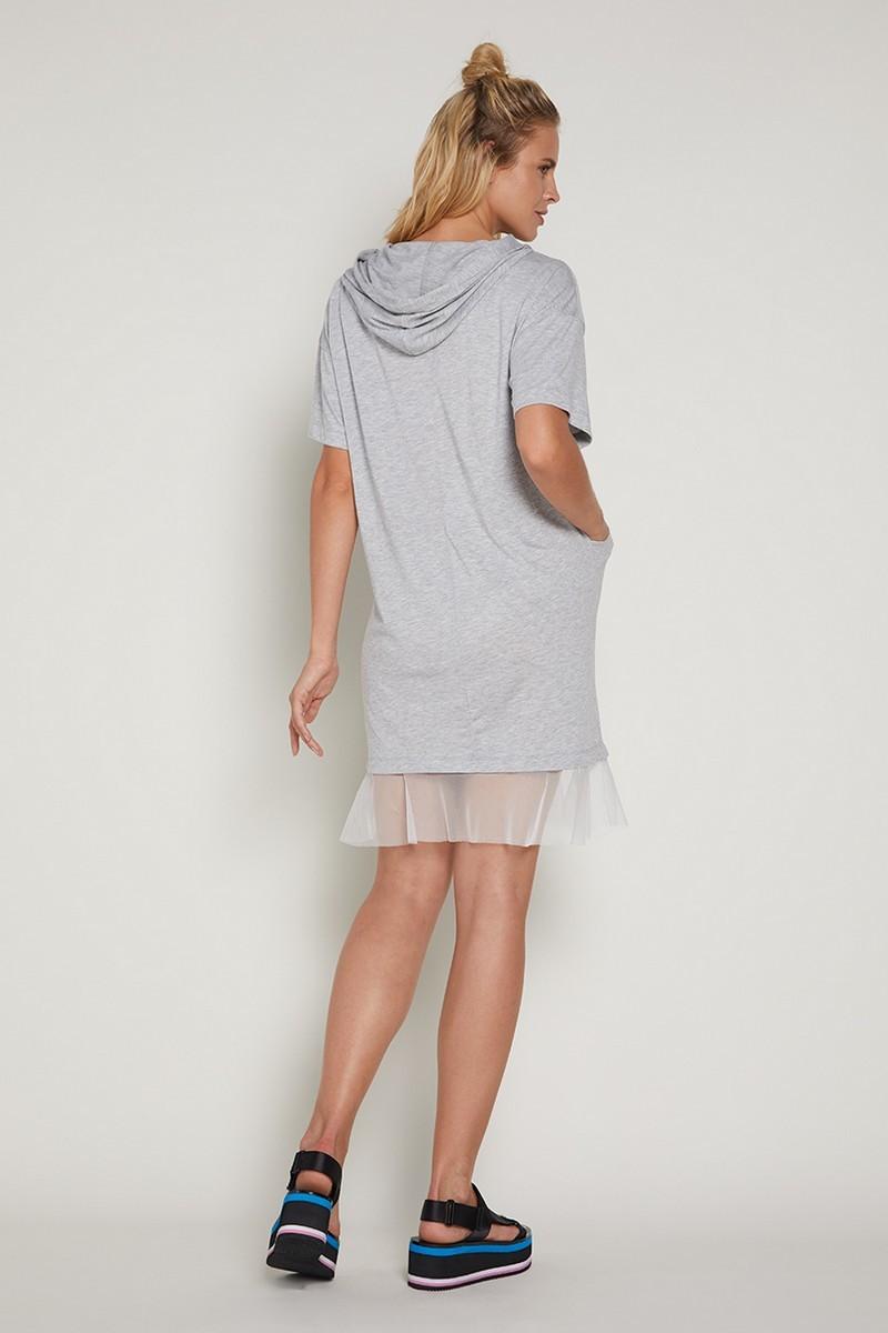 Платье для беременных 09361 серый меланж