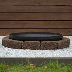 Чаша для костра Concretika iron P100 на основании из состаренного бетона 1 уровень кладки