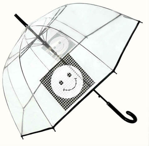 Зонт-трость прозрачный Perletti Time-25920-Smile