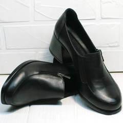 Закрытые женские туфли на каблуке демисезонные H&G BEM 107 03L-Black.