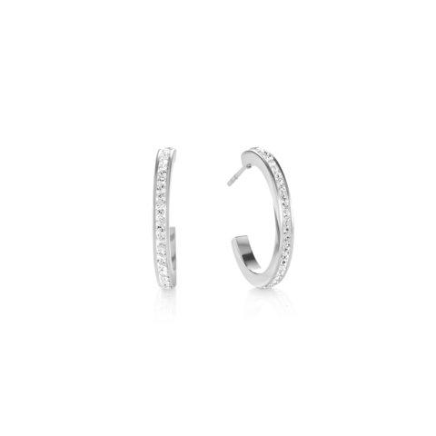 Серьги Crystal-Silver 0139/21-1817 цвет серебряный