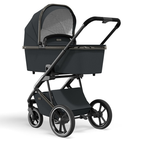 Коляска Moon Style 2 в 1 Black Chrome (444) 2021 + Cybex Aton M i-Size