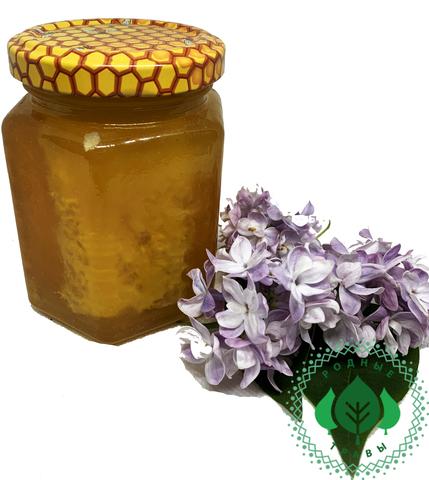 Соты в банке, залитые мёдом Акации
