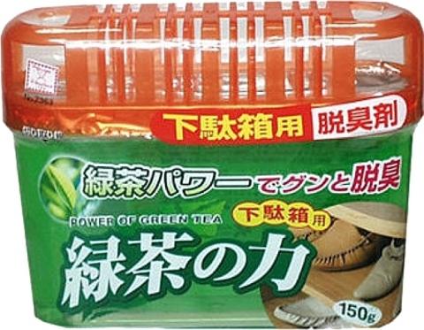 Дезодорант-поглотитель запаха, Kokubo, для обувных шкафов, зелёный чай, 150 г