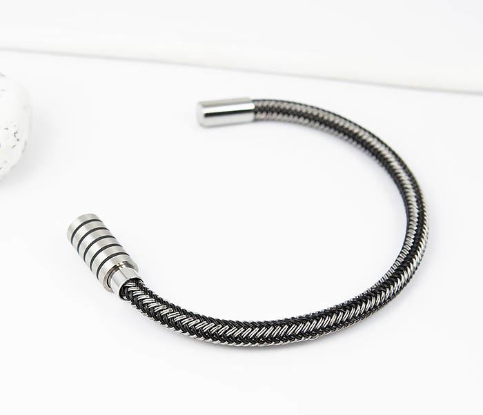 BM516 Мужской браслет из стальной проволоки (19 см) фото 03