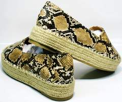 Женские туфли летние  Lily shoes Q38snake.