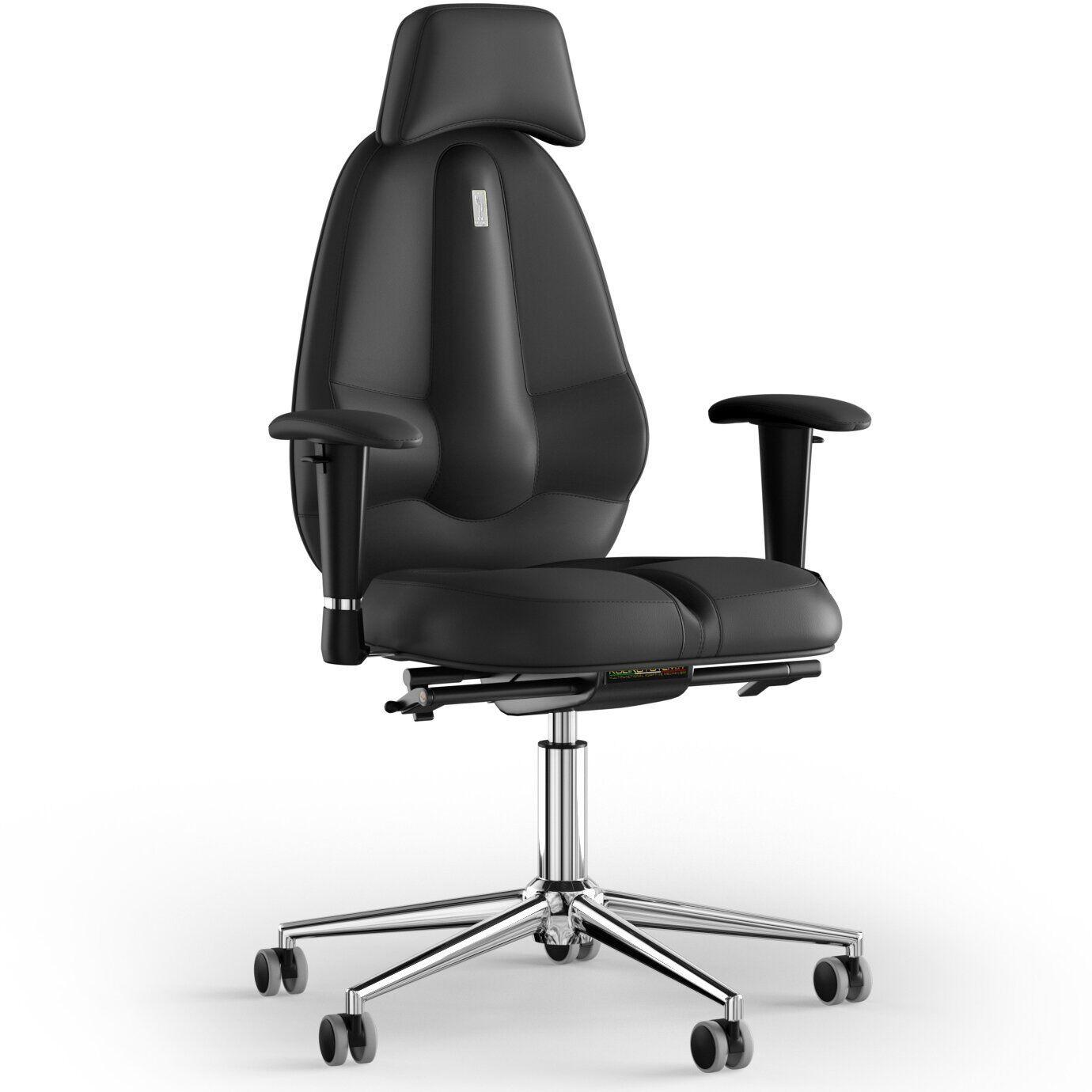 Кресло KULIK SYSTEM CLASSIC Экокожа с подголовником без строчки