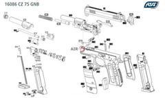 Пневматический пистолет ASG CZ 75D Compact