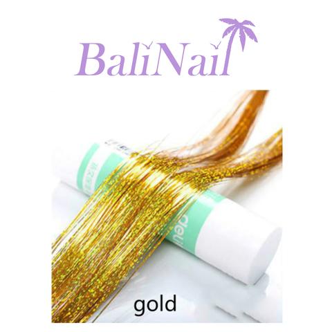 Блестящие пряди (нити) для волос #3 (золото голограф.)