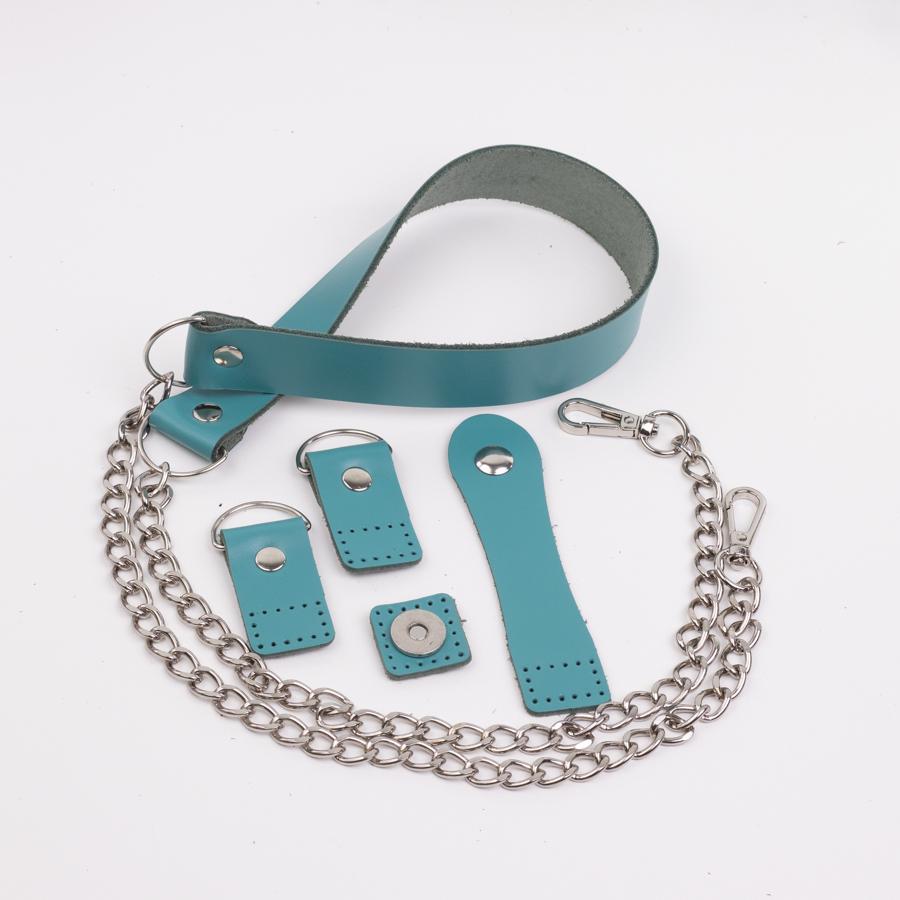 """Комплекты Комплект для сумки-ракушки """"Морская волна"""" с ручкой с цепочкой IMG_1283.jpg"""