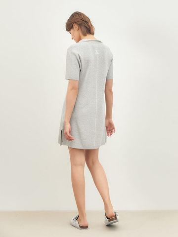 Женское платье серого цвета из вискозы - фото 4