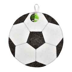 Коврик «Футбольный мяч», белый, войлок 100%