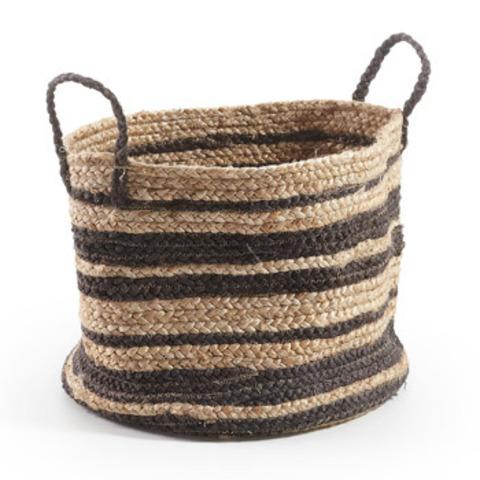 Корзина Basket в полоску