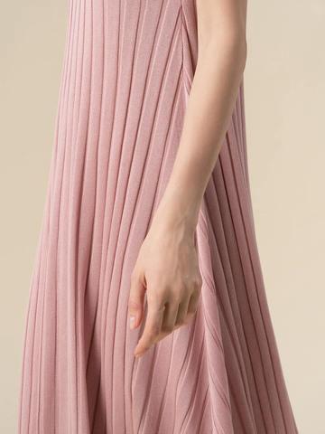 Женское платье светло-розового цвета из вискозы - фото 5