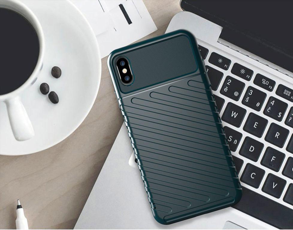 Чехол для iPhone X (XS) цвет Green (зеленый), серия Onyx от Caseport