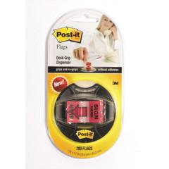 Клейкие закладки Post-it пластиковые красные 200 листов ширина 25.4х43.2 мм в диспенсере