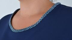 Лыбидь. Элегантное платье для больших размеров. Синий.