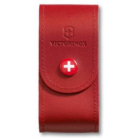 Чехол Victorinox (4.0521.1) для 91мм толщина 5-8 ур кожа красный