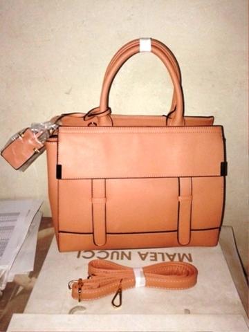 Классическая сумка пудрового цвета