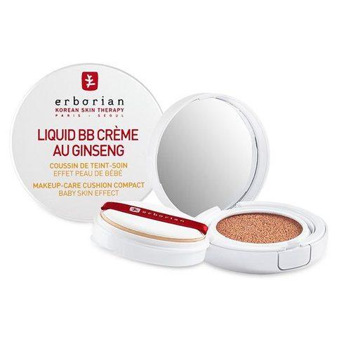 Erborian Ликвид BB крем кушон доре Liquid BB Creme Au Ginseng Dore Make-Up Cushion Compact