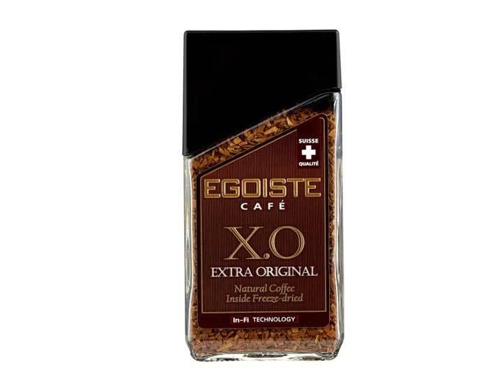 Кофе молотый в растворимом Egoiste X.O. Extra Original, 100 г стеклянная банка