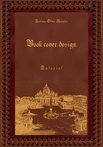 Book cover design. Tutorial