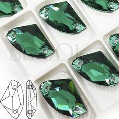Купить пришивные стразы зеленые Emerald, Galactic в Москве