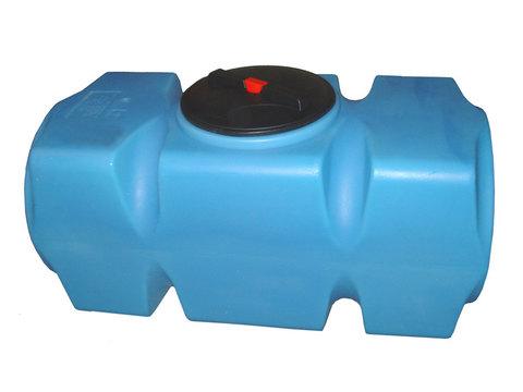 Танк 800л горизонтальная с фланцем и крышкой с клапаном, со сливом д/воды, (Синий), (1700 х 750 х 780 мм), [Т800ГФК2З]