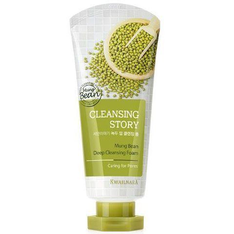 Welcos Cleansing Story Foam Cleansing Mung beans пенка для умывания для любого типа кожи