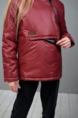 Куртка-анорак для девочки бордо