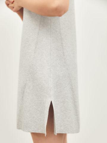 Женское платье серого цвета из вискозы - фото 3