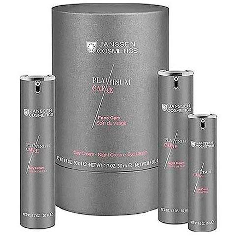 Janssen Platinum Care: Набор: дневной крем, ночной крем, крем для глаз (Face Care Set)