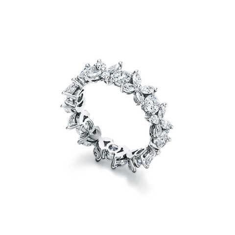 Кольцо-дорожка Victoria  из серебра с цирконами