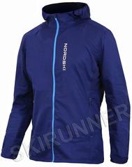 Беговая куртка с капюшоном Nordski Run Navy-Blue