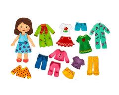 Игровой набор из фетра Кукла Алина, Smile decor