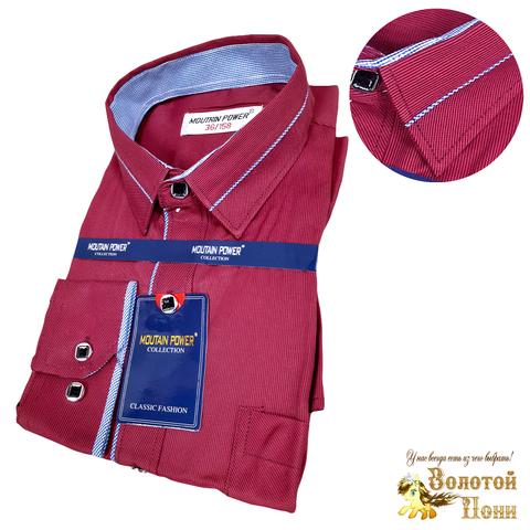 Рубашка рубчик мальчику (116-164) 210531-МР9641.3