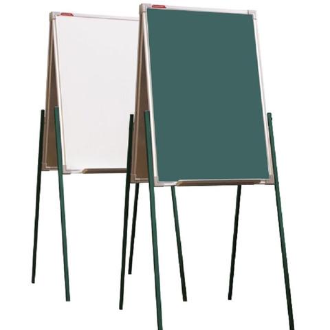 Доска - мольберт двусторонний комбинир.BoardSYS, h 1,0м, алюм.цветная рама