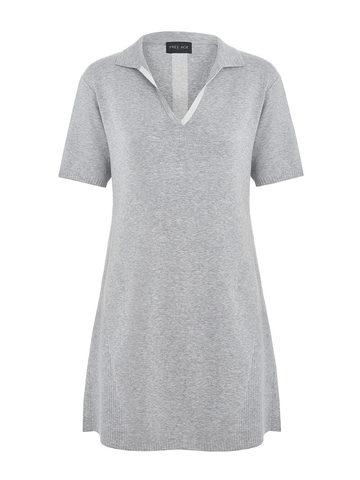 Женское платье серого цвета из вискозы - фото 1