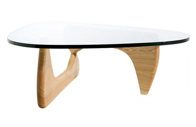 Стол журнальный Isamu Noguchi Style Coffee Table орех - вид 3