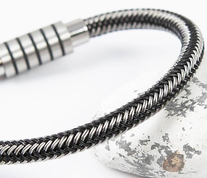 BM516 Мужской браслет из стальной проволоки (19 см) фото 05